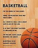 """Unframed Basketball Female 8"""" x 10"""" Sport Poster Print"""