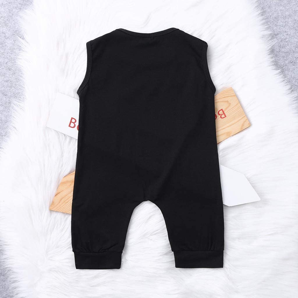 Infant Toddler Girls Boys Summer Clothes Jumpsuits Onesies 6-24 Months Sleeveless Letter Print Romper Playsuits