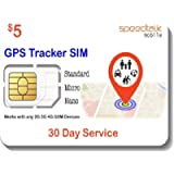 GSM SIM Card for GPS Trackers - Pet Kid Senior Vehicle Tracking Devices - 30 Day Service Includes US Canada & Mexico…