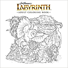 amazoncom jim hensons labyrinth adult coloring book 9781684151110 jim henson books