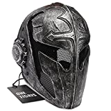 OneTigris Tactical Paintball Airsoft Full Face Protection Game Mask Knight Mask Templar for Men