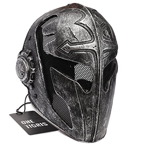 OneTigris Tactical Full Face Protection Knight Mask Templar for Men (Mens Templar Knight Costume)