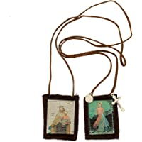 Venerare Catholic Holy Figure Saint Scapular | 100% Wool | Comes with Enrollment Papers