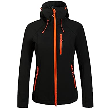 0c8c78e21e9a9 Winter Fleece Softshell Jacket Outdoor Sport Waterproof Coats Hiking Skiing  Camping Female Jackets Black S