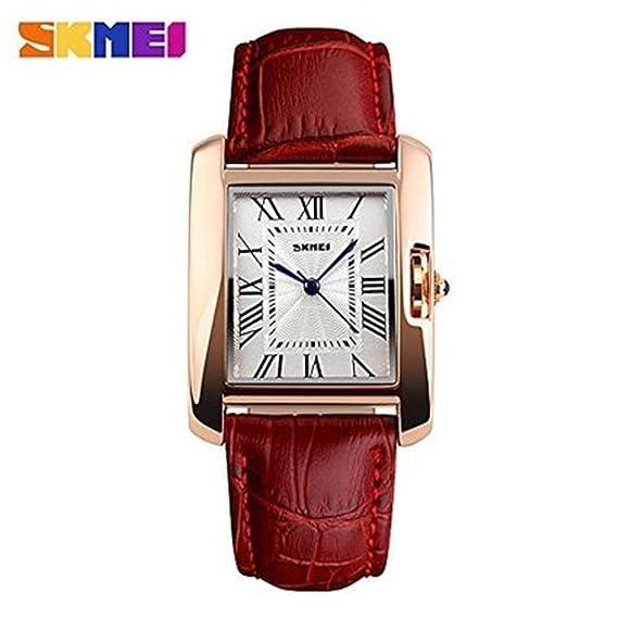 Cuadrado Skmei relojes mujeres calendario reloj de cuarzo de las mujeres relojes de pulsera.