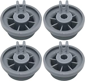 Primeswift 165314 Durable Dishwasher Lower Rack Wheel Replacement for Kenmore Bosch 00420198 PS8697067,4 Pack