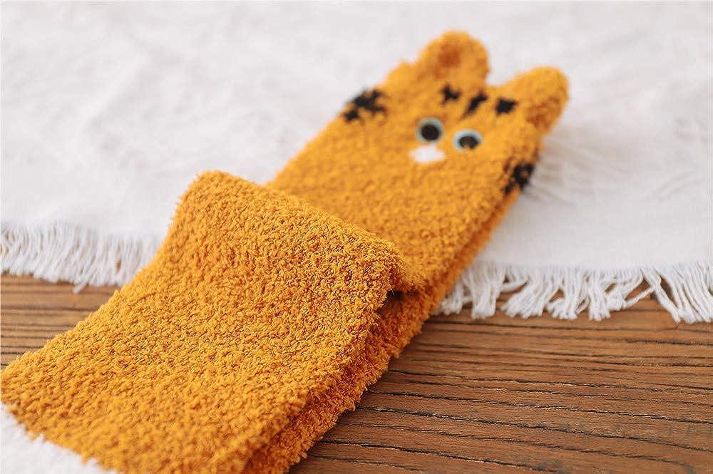 ACVIP Womens Cute Kitty Cat Paws Coral Fleece Slipper Socks Winter Warm Home Sleeping Cozy Sock