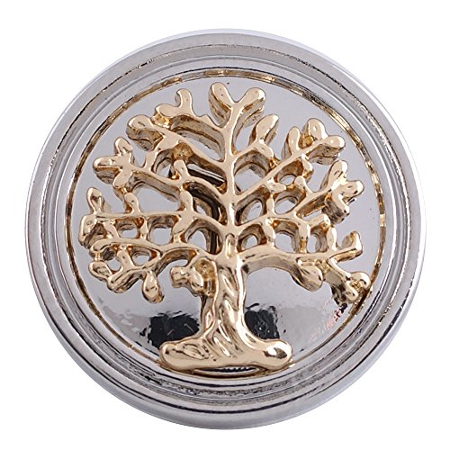 Lovmoment 20mm Snap Button Tree of Life Jewelry DIY Button Ginger Snaps Bracelet