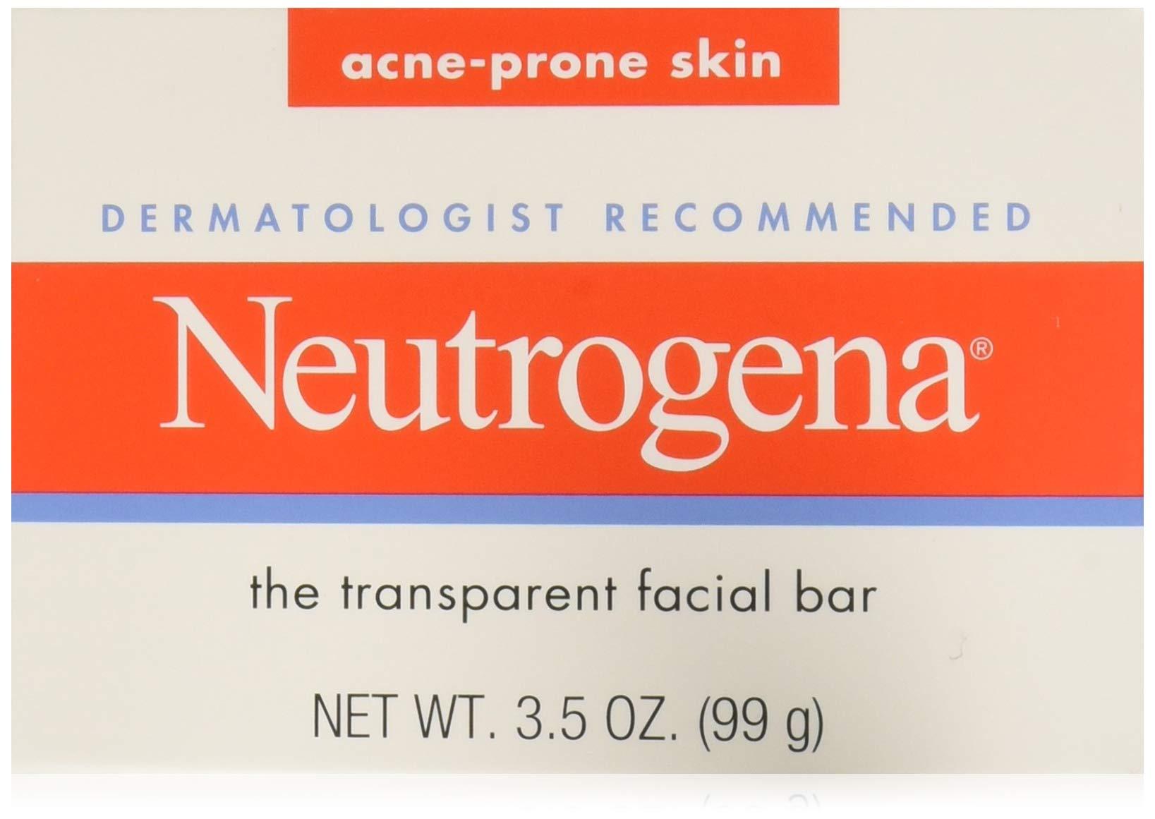 Neutrogena Acne Prone Skin Formula Facial Bar 3.50 oz (Pack of 12)