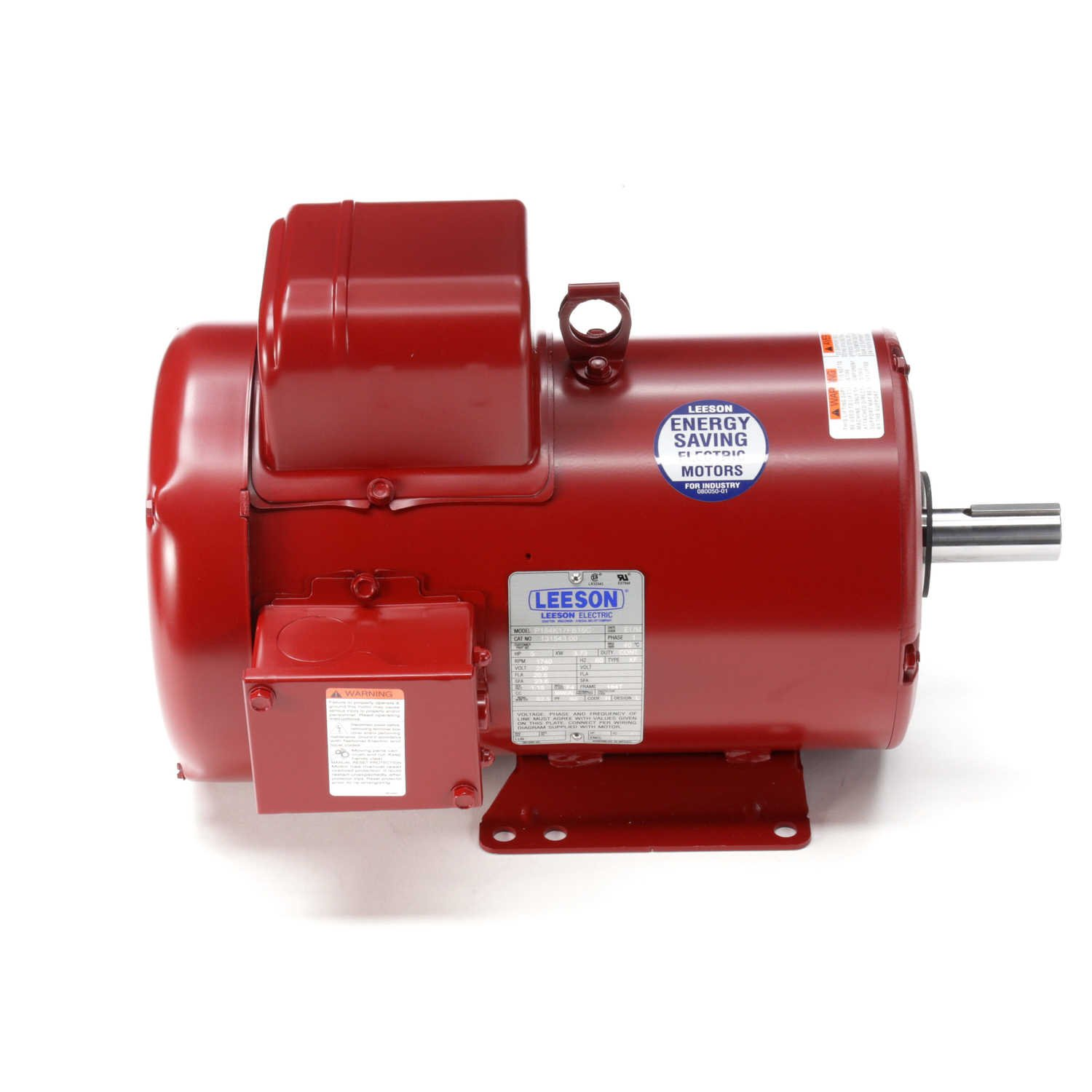 Leeson Farm-Duty Electric Motor - 5.0 HP, 1,740 RPM, 230 Volts, Single Phase, Model Number P184K17FB16