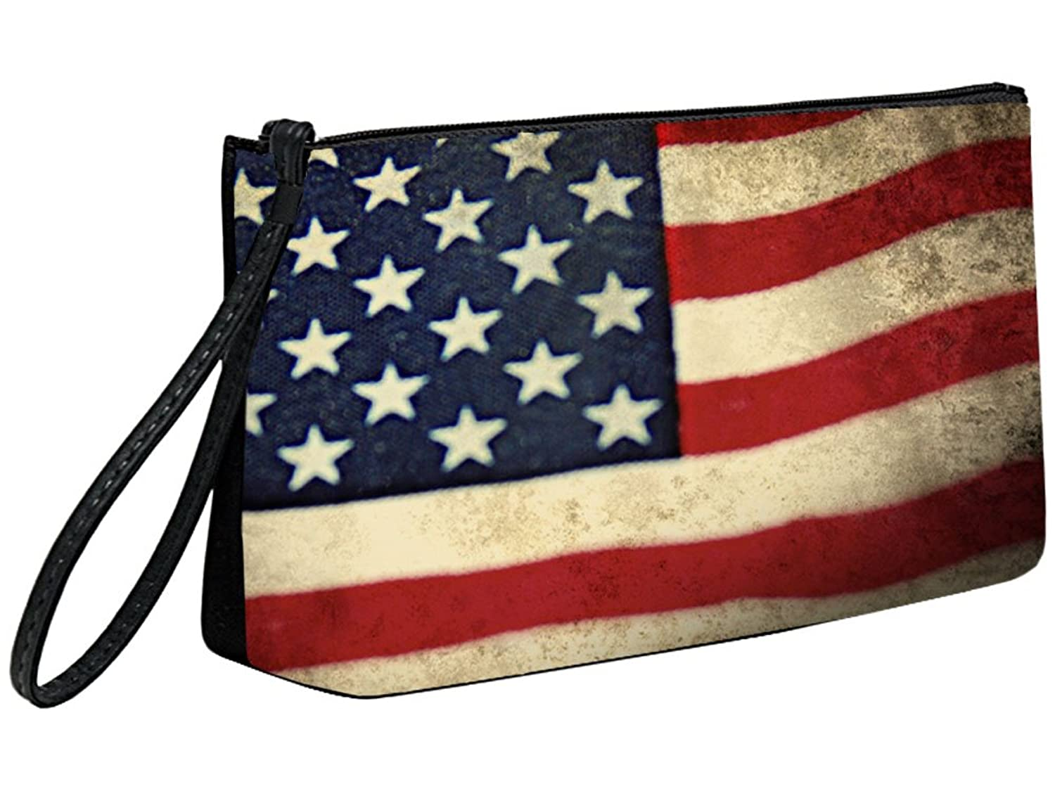 Snaptotes Patriotic Flag Wristlet Clutch Purse