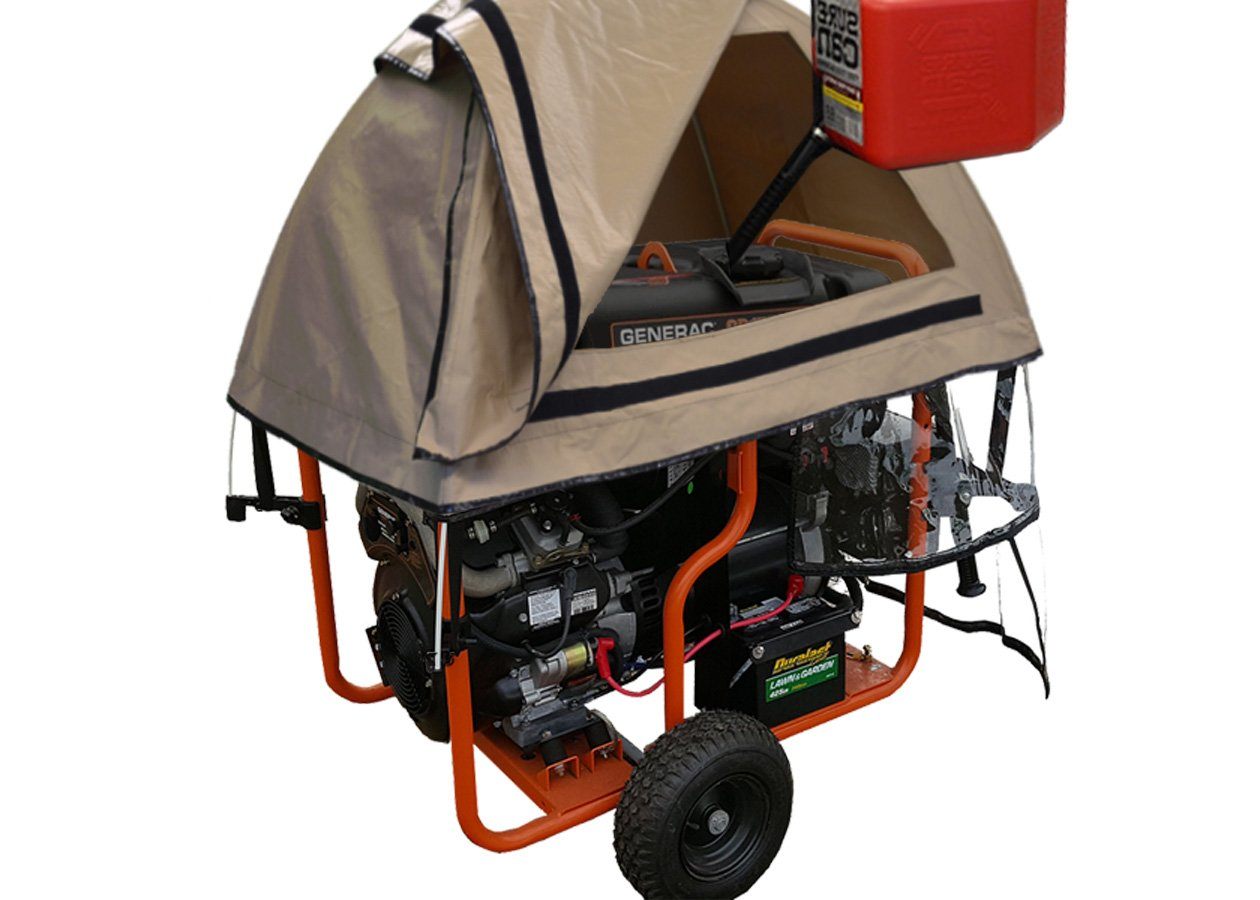 GenTent 20K Running Cover (Extreme, TanLight) for Generac GP12500 - GP17500 Generators by GenTent Safety Canopies (Image #4)