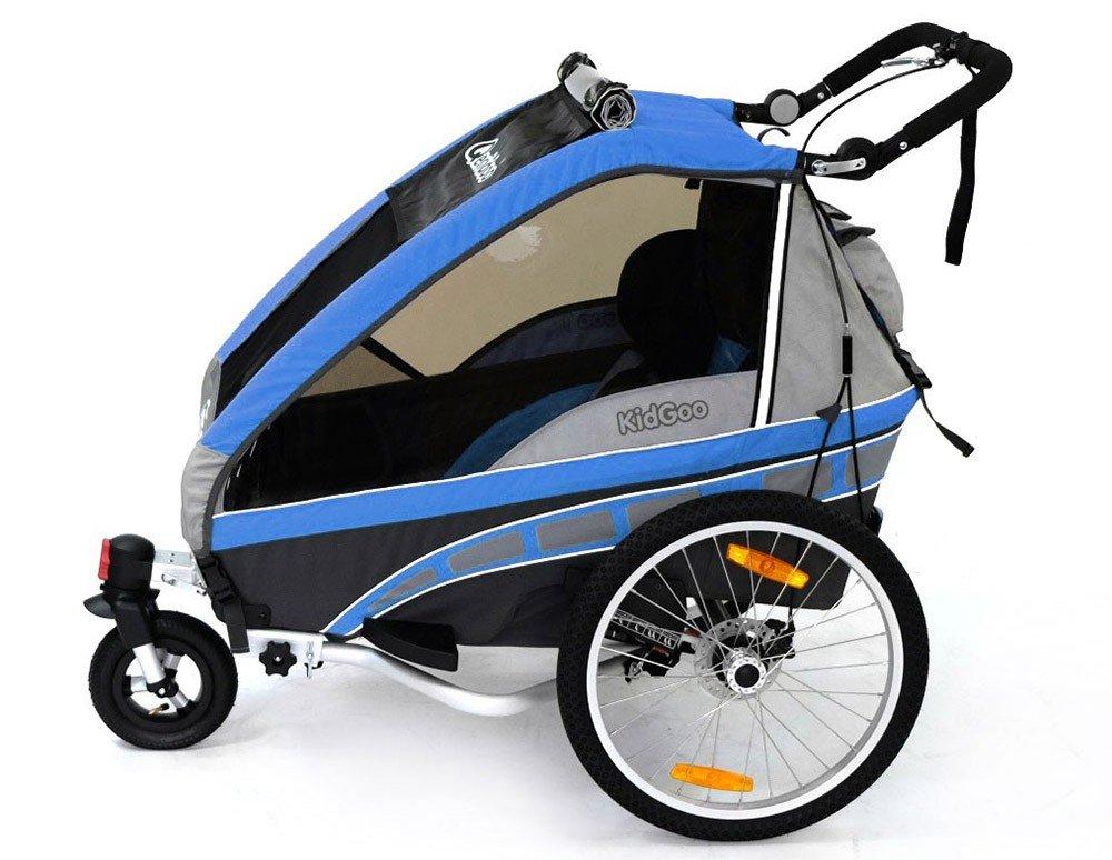 Qeridoo Jumbo 2 niños de remolque de bicicleta (2 plazas), azul: Amazon.es: Deportes y aire libre