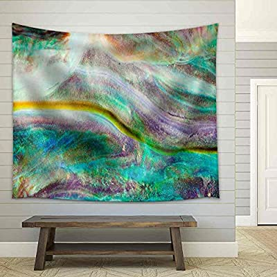 Top Quality Design, Charming Composition, Iridescent Nacre Mother of Pearl Inner Side of Paua Perlemoen or Abalone Shell Macro Background Texture Pattern Fabric Wall