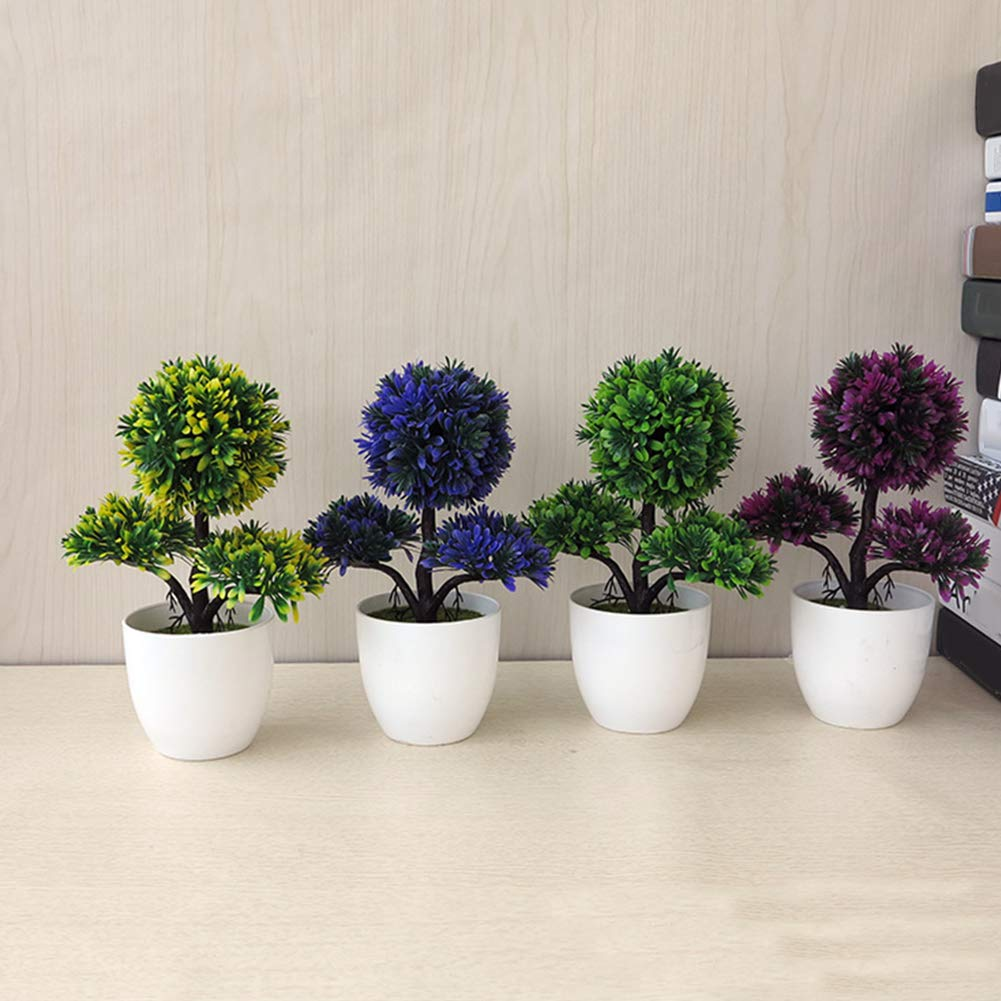 litymitzromq Artificial Flowers Outdoor Plants Guest-Greeting Pine Simulated Potted Plant Fake Bonsai for Home Desk Garden Stage Office Wedding Hotel Party Cafe Shop Decoration Green