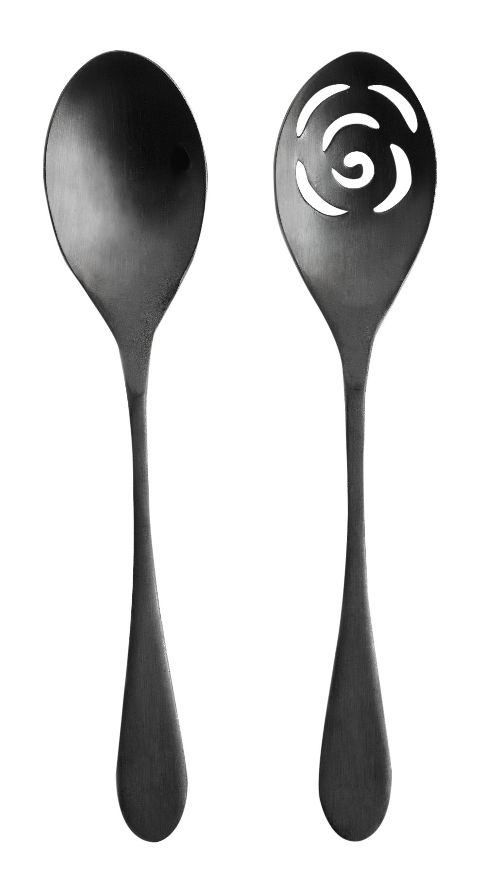 Knork 274 Black Matte Titanium Finish Serving Spoons - Scratch resistant finish, perfect for everyday use Dishwasher safe Hand Forged - kitchen-tabletop, kitchen-dining-room, flatware - 61YxyOKF9oL -