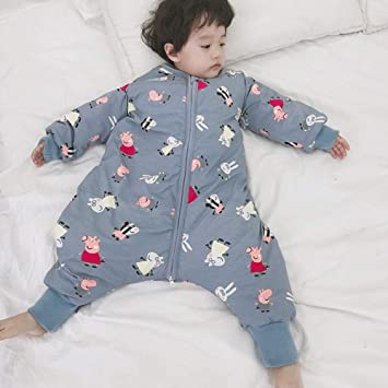 HGYBZ - Saco de Dormir para bebé de Manga Larga, Pierna Dividida, Mangas extraíbles