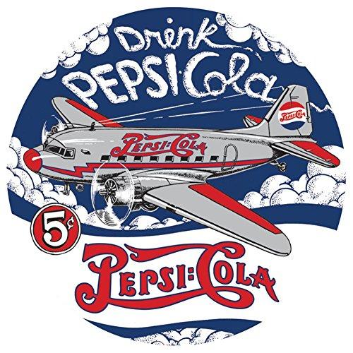 Pepsi Die-Cut Tin Sign 14 x 14in Pepsi Cola Metal Sign