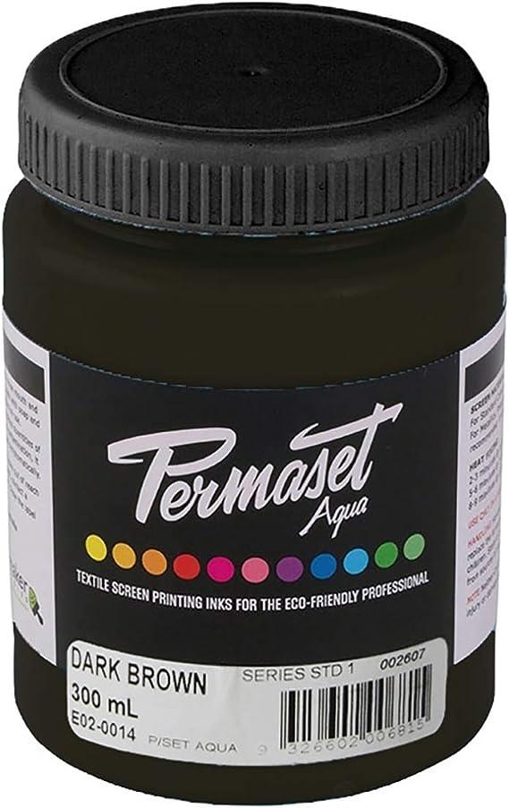 Permaset Aqua 300 ml, color marrón oscuro, tinta/tinte, 9,2 x 7,8 x 15,5 cm.