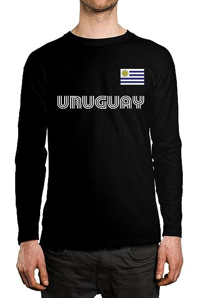 824a1b2f4 Amazon.com  SpiritForged Apparel Uruguay Soccer Jersey Men s Long ...
