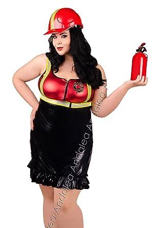 heiß-verkaufendes echtes Farbbrillanz bester Service Andalea Erotisches Feuerwehrfrau Outfit Chemise/schwarzes ...