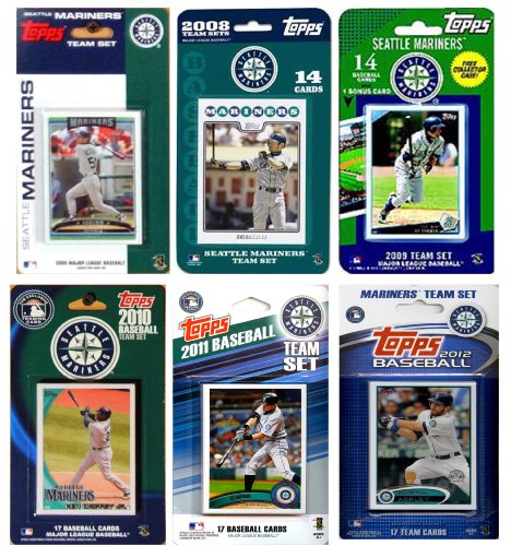 MLB Seattle Mariners 6 Different Licensed Trading Card Team Sets from C&I Collectables