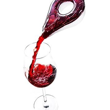 AUVSTAR Decantador de vino rojo creativo vintage mágico rápido vertedor, tipo pétalo, dispensador de