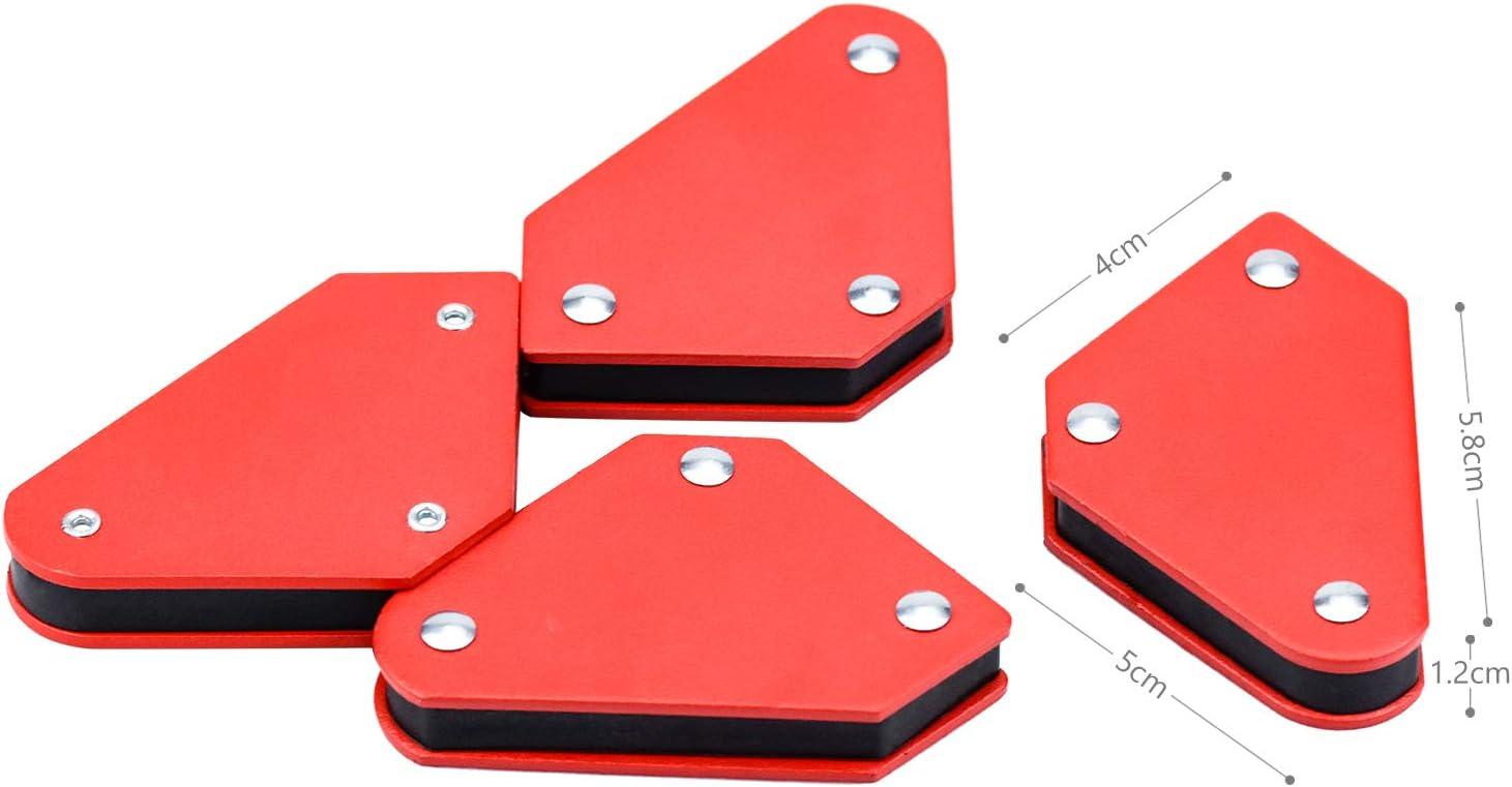 SANTOO 4 Stk Magnetische Schwei/ßwinkel Set Schwei/ßmagnet Winkelmagnet 45 /° 90 /° 135 /° Magnetwinkel Halter und Positionierer beim Schwei/ßen L/öten Markieren