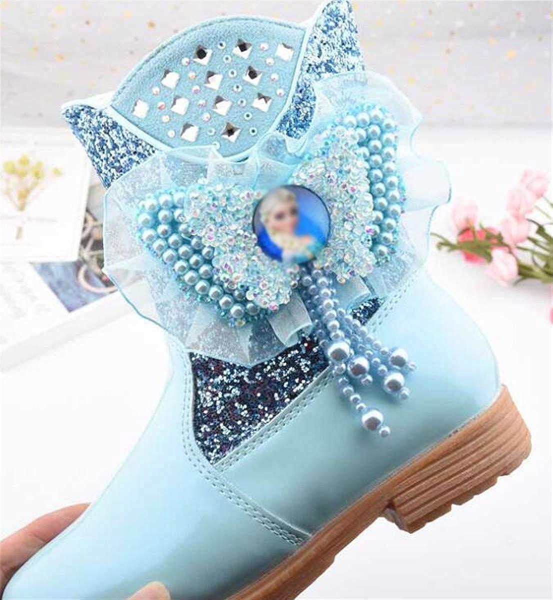 LCXYYY Princesse Filles Bottes De Neige Enfants Chaussures Accessoires De Costume Bottes Hautes dhiver Plat avec Doublure Doubl/ée Chaude en Plein Air Glitter Paillettes Festive Carnaval Anniversaire