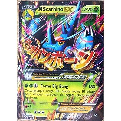 carte Pokémon 5/111 Méga Scarhino-EX 220 PV ULTRA RARE XY Poings Furieux NEUF FR