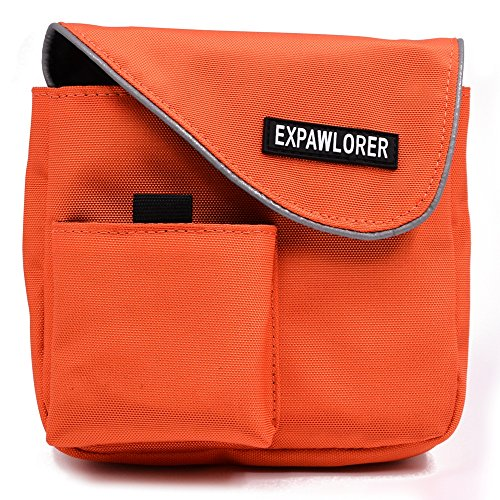 EXPAWLORER Portable Dog Training Treat Pouch Snacks Carrier for Walking,Traveling with Side Bag,Orange