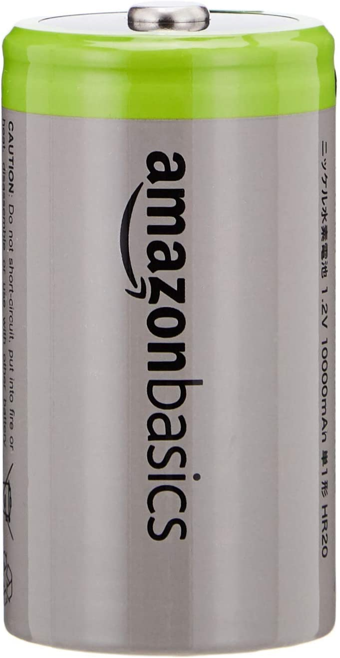 AmazonBasics 9V Cell Rechargeable Batteries 200mAh Ni-MH, 4-Pack (Renewed)