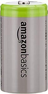 AmazonBasics 9V Cell Rechargeable Batteries 200mAh Ni-MH, 4-Pack (Renewed)