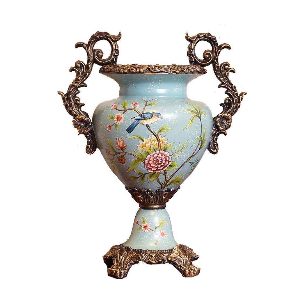 造花リビングルームエントランスアレンジメントフラワーフラワーアレンジメント大花瓶装飾 anQna B07SBTHLKB