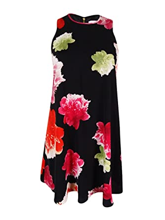 Image Unavailable. Image not available for. Color  Calvin Klein Womens  Petites Chiffon Floral Print ... f98fa5196