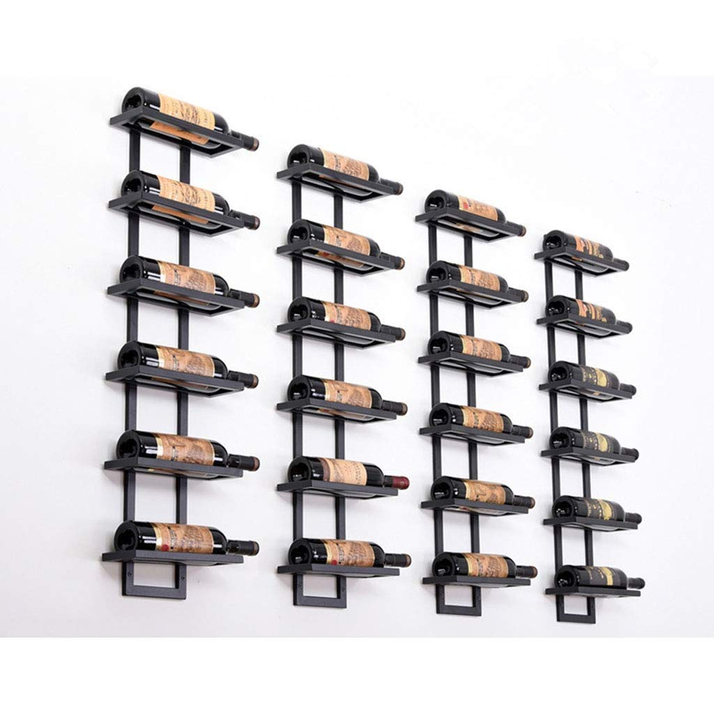 Size : 2 Bottles DUDDP Wine Holder Wall-Mounted Wine Rack Iron Metal Wine Bottle Rack Wall-Mounted Inverted Wine Glass Holder Wall Hanging Wine Tray Wine Display Stand Cork Storage Store