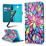 iPhone 6S Plus Case,iPhone 6 Plus Case,iPhone 6 Plus Wallet Cover,Flip Stand Case for iPhone 6 Plus/ 6S Plus,SKYMARS PU Leather Shock Absorbing Bumper Art Painting Flip Folio Kickstand Cards Slot Wallet Magnetic Closure Protection Book Style Case for iPhone 6 Plus / 6S Plus 5.5 inch Lotus flower