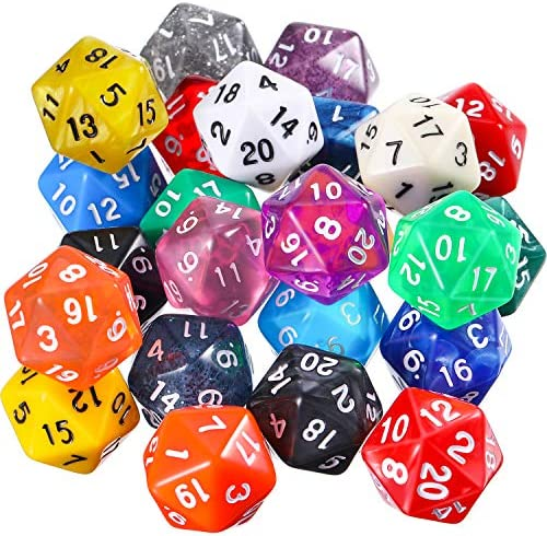 TecUnite Pieces Polyhedral Colored Assortment