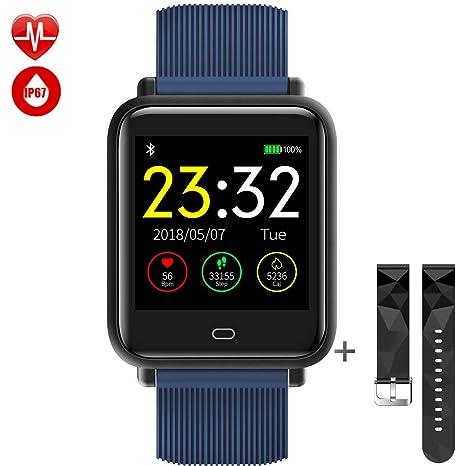 TagoBee TB08 IP67 Reloj Smartwatch Desbloqueado Fitness Tracker Monitorización de la presión Arterial Notificaciones de Recordar Compatible con iOS y ...
