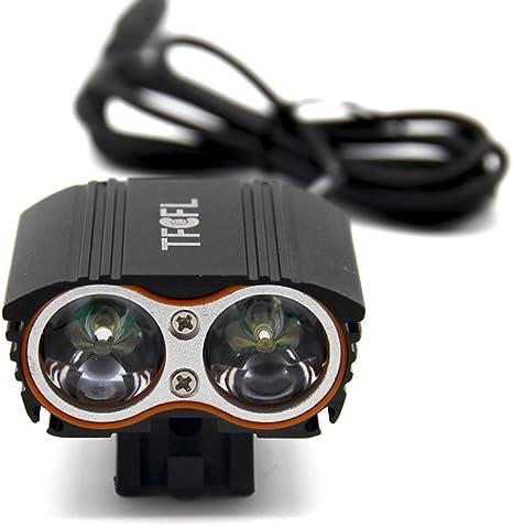 TFCFL Linterna Lámpara para bicicletas bici CREE XM-L U2 - Luz LED ...