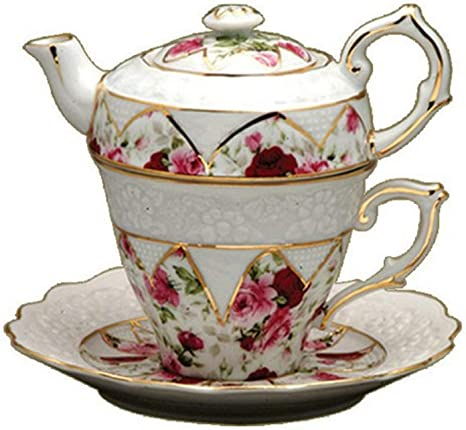 ONE GRACIE CHINA BY COASTLINE,WHITE With ROSES CUP /& SAUCER NEW