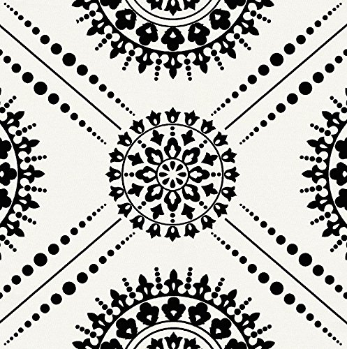 Carousel Designs Onyx Modern Medallion Fabric by The Yard - Organic 100% ()