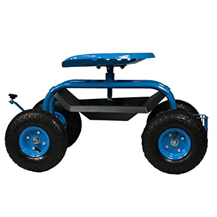 Amazon.com: Sunnydaze - Carro de jardín con ruedas, asa de ...