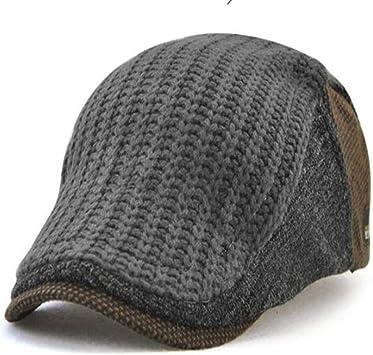 FJKL Sombreros Boinas para Mujer Gorras Gorra De Boina De Punto ...