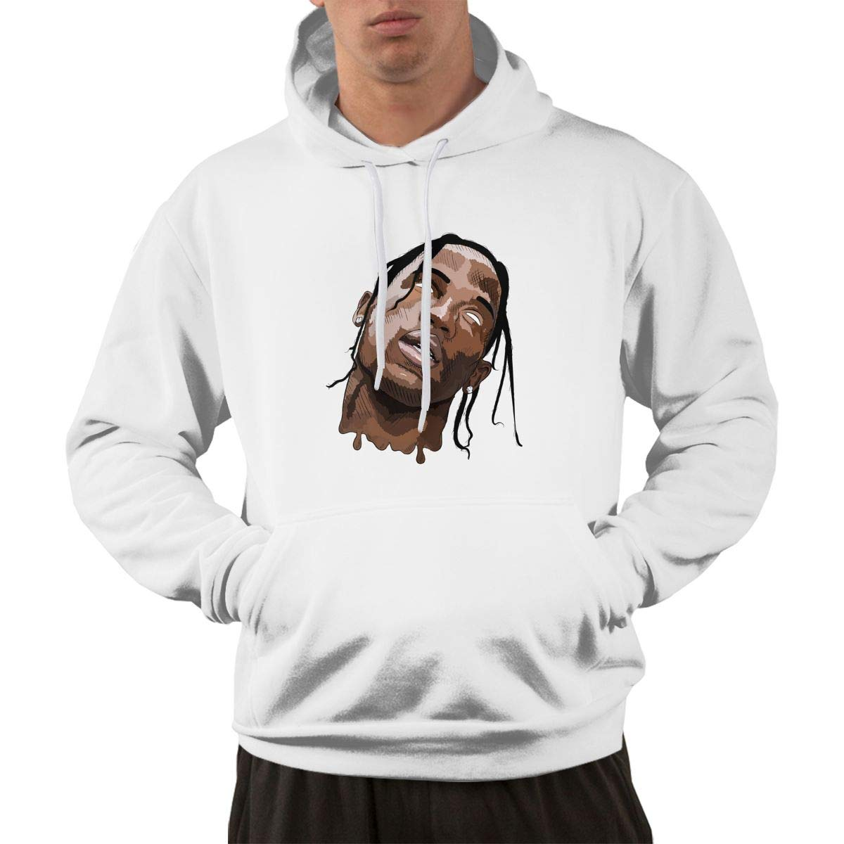 d6a6bd6cc99f Zinmmerm Men's Fashion Travis-Scott- Travis-La-Flame Hooded Sweatshirt  39a76b