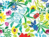 Pack of 1, Summer Garden 18'' x 417' Ultra Gloss Gift Wrap Half Ream Roll w/Floral & Classic Print Designs