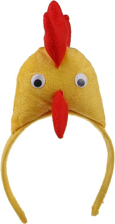 REFURBISHHOUSE Banda de cabeza de gallo pollo 3D Granja de ...