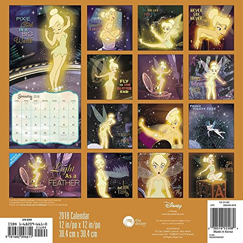 Tinker Bell 2018 Wall Calendar Photo #4