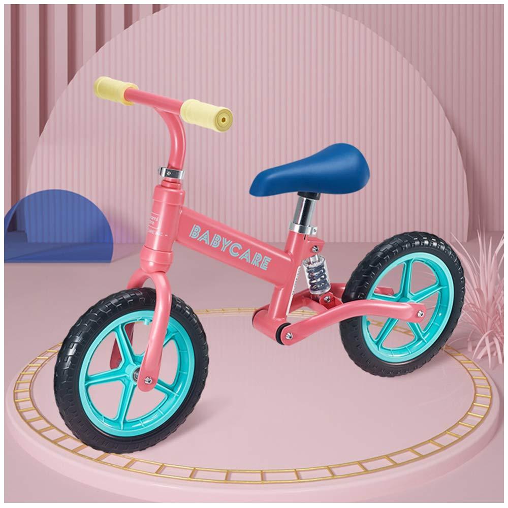 CHRISTMAD No Pedal Walking Bicycle Verstellbarer Lenker Und Sitz Mit Eva-Rad, 110 Lbs Für 2 Bis 6 Jahre,Weiß rot