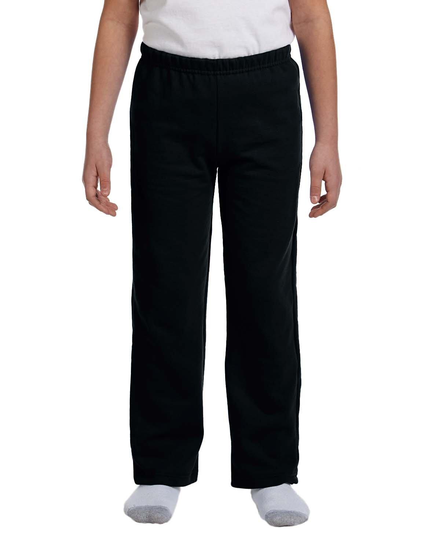 Gildan Boys 7.75 Oz. Heavy Blend 50/50 Sweatpants (G184B) -Black -L-12PK